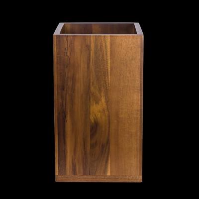 Square Platform Acacia Wood