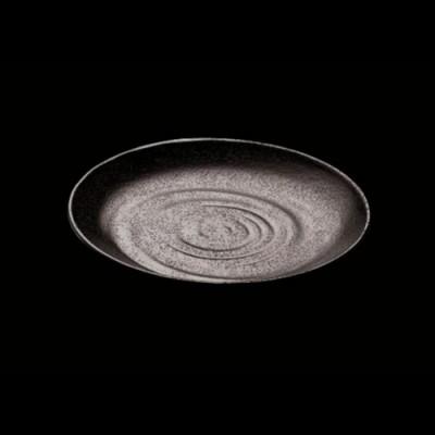 Round Plate, Black