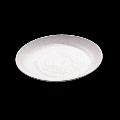 Round Plate, White