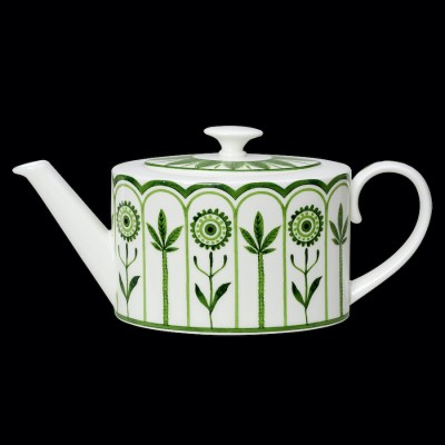 GARDENING DESIGNS ON  CHIP RESISTANT 2CUP SIZE CERAMIC TEAPOT