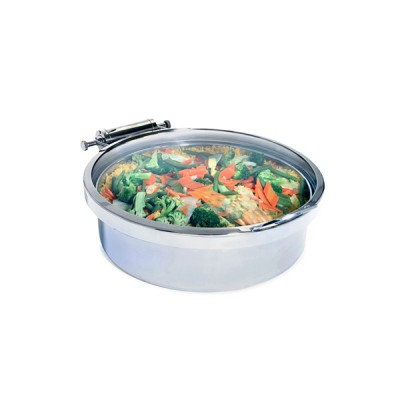 Round Induction Chafer Full Glass Lid