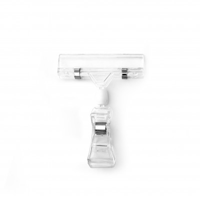 Clear P.C. Clip-on Spring Sign Holder